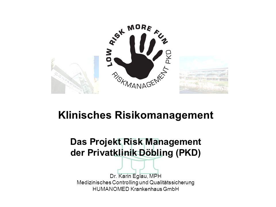 Risk-Management – Wozu.* Foster et al.: Ottawa Hospital Patient Safety Study.