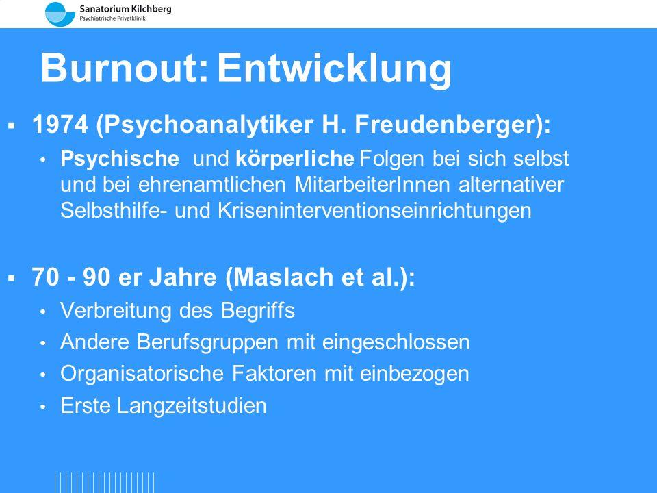 Burnout... ein Prozess, in Gang gesetzt durch chronischen Stress am Arbeitsplatz, der mit seinen Folgen in Depression enden kann. nach: Kissling