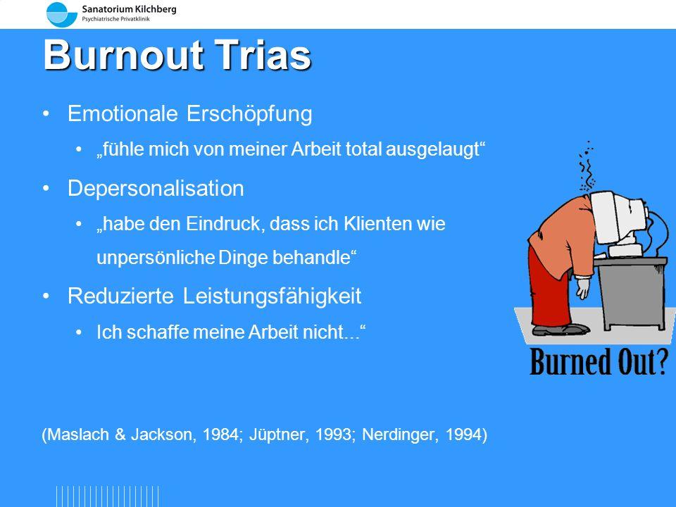 Burnout-Prozess und Stress Nach Burisch, 2005; Shirom et al. 2005 Depressive Symptome Stress Burnout Klinische Depression 1.Erste Warnzeichen Gesteige