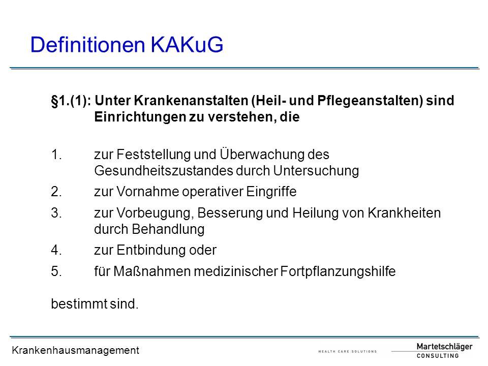 Krankenhausmanagement Leistungsorientierte KH-Finanzierung (LKF)