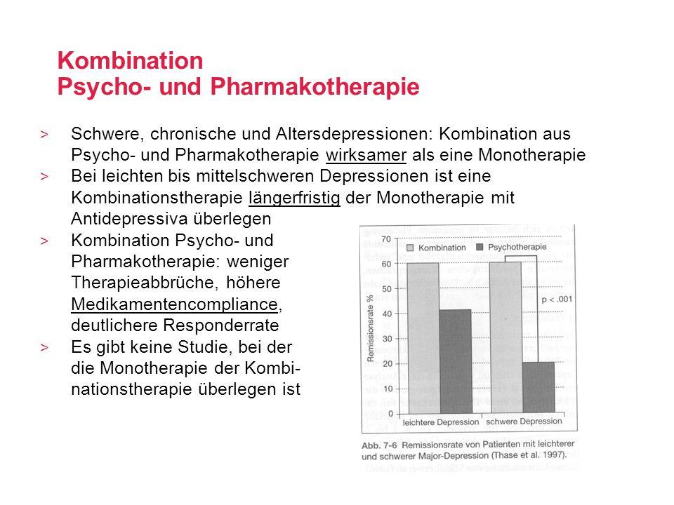 Kombination Psycho- und Pharmakotherapie > Schwere, chronische und Altersdepressionen: Kombination aus Psycho- und Pharmakotherapie wirksamer als eine