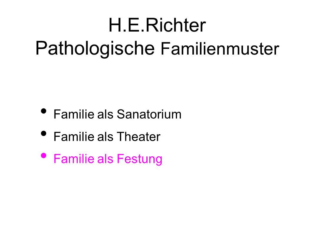 H.E.Richter Pathologische Familienmuster Familie als Sanatorium Familie als Theater Familie als Festung