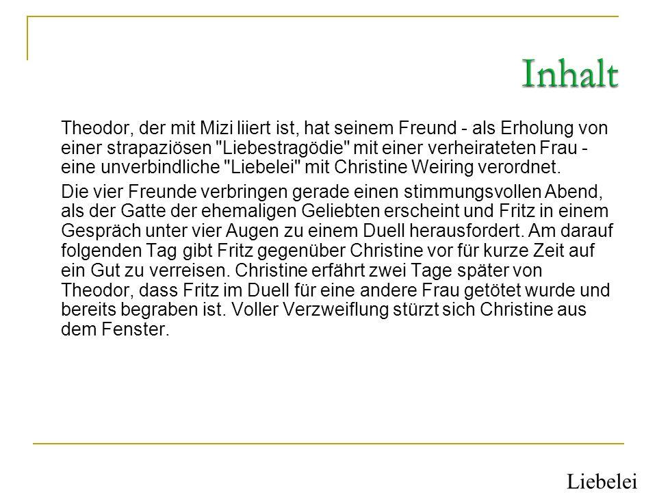 Hans Weiring (Violinspieler am Josefstädter Theater) Christine Weiring (seine Tochter) Mizi Schlager (Modistin) Katharina Binder (Frau eines Strumpfwi