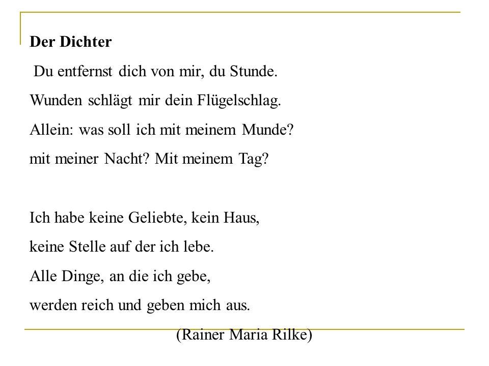 Der österreichische Dichter, vielleicht der genialste Lyriker seiner Zeit, hat viele europäische Dichter und Philosophen beeinflusst. Die zarten Bilde
