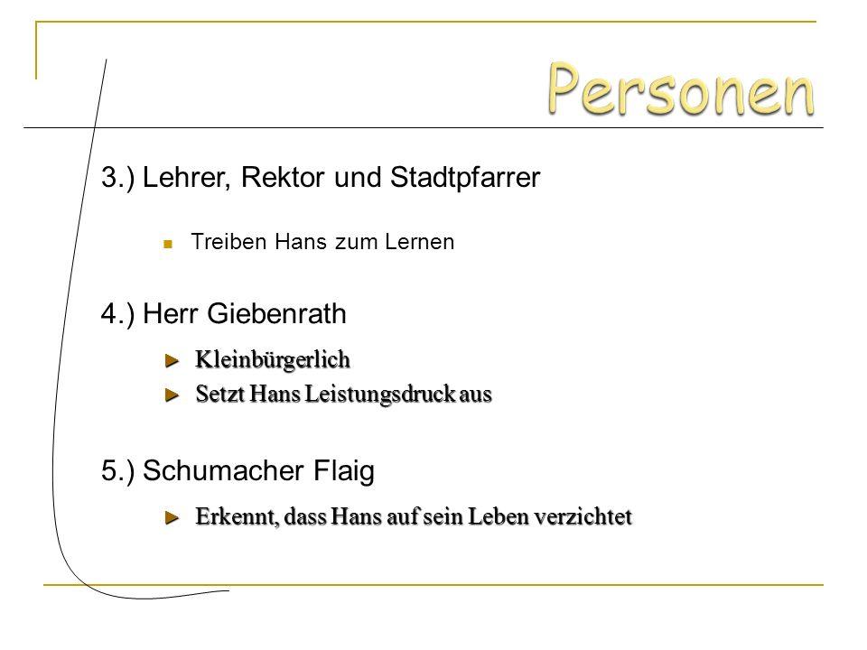 Gegenteil von Hans Sehr selbstständig Leichtsinnig und kritisierend Genie extrovertiert 2.) Hermann Heiler