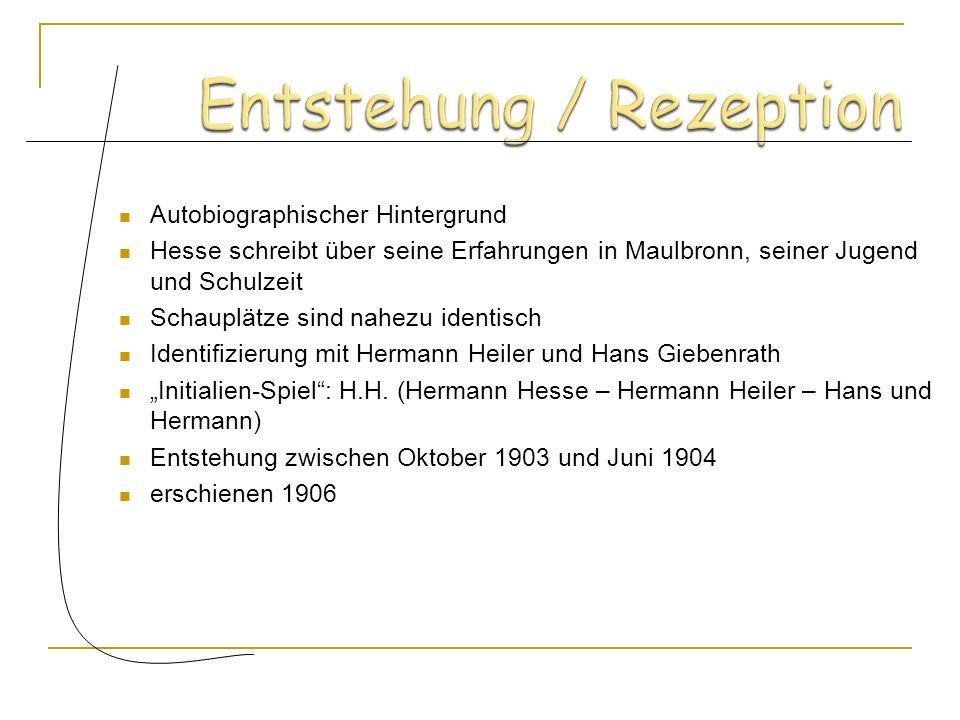 Treiben Hans zum Lernen 3.) Lehrer, Rektor und Stadtpfarrer 4.) Herr Giebenrath Kleinbürgerlich Kleinbürgerlich Setzt Hans Leistungsdruck aus Setzt Ha