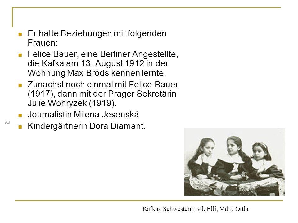 Von 1889 bis 1893 besuchte Kafka die Deutsche Knabenschule am Fleischmarkt in Prag. Dann wechselte er an das humanistische Staatsgymnasium in der Prag