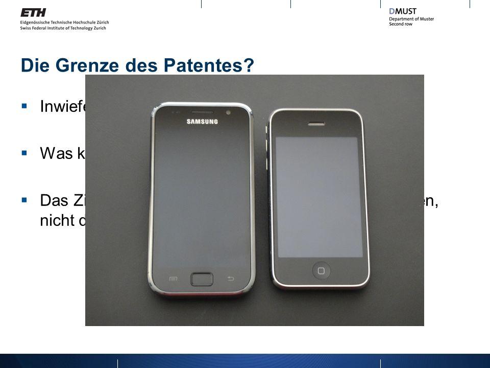 Die Grenze des Patentes? Inwiefern ist Patent für Design und Marken gültig? Was kann man patentieren? Runde Rechtecke? Das Ziel des Patentes ist Geist