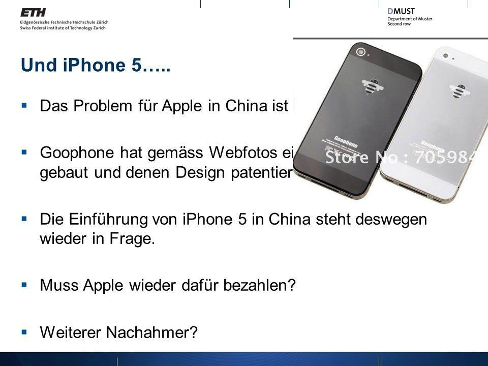 Und iPhone 5….. Das Problem für Apple in China ist noch nicht zu Ende…. Goophone hat gemäss Webfotos einen Mobilephone gebaut und denen Design patenti