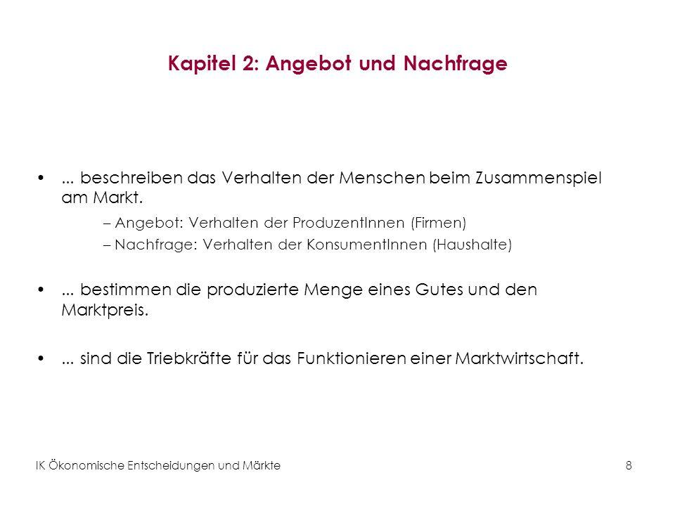 IK Ökonomische Entscheidungen und Märkte29 Übung 3: Der Apfelmarkt Folgende Ereignisse betreffen den Markt für Äpfel.