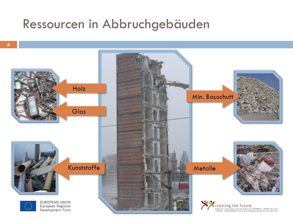 Wiederverwendung im Bauwesen.7 Ca. 200 Stk.