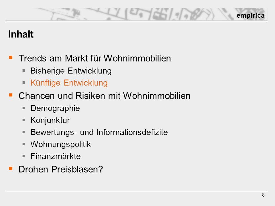 empirica empirica ag Forschung und Beratung AG Kurfürstendamm 234, D-10719 Berlin Fon: 030 / 884 795-0 Fax: 030 / 884 795 17 Mail: berlin@empirica-institut.de USt.-ID: DE 177 317 244 St.Nr.: 27/473/3029 empirica gmbh Qualitative Marktforschung, Stadt- und Strukturforschung GmbH Kaiserstr.
