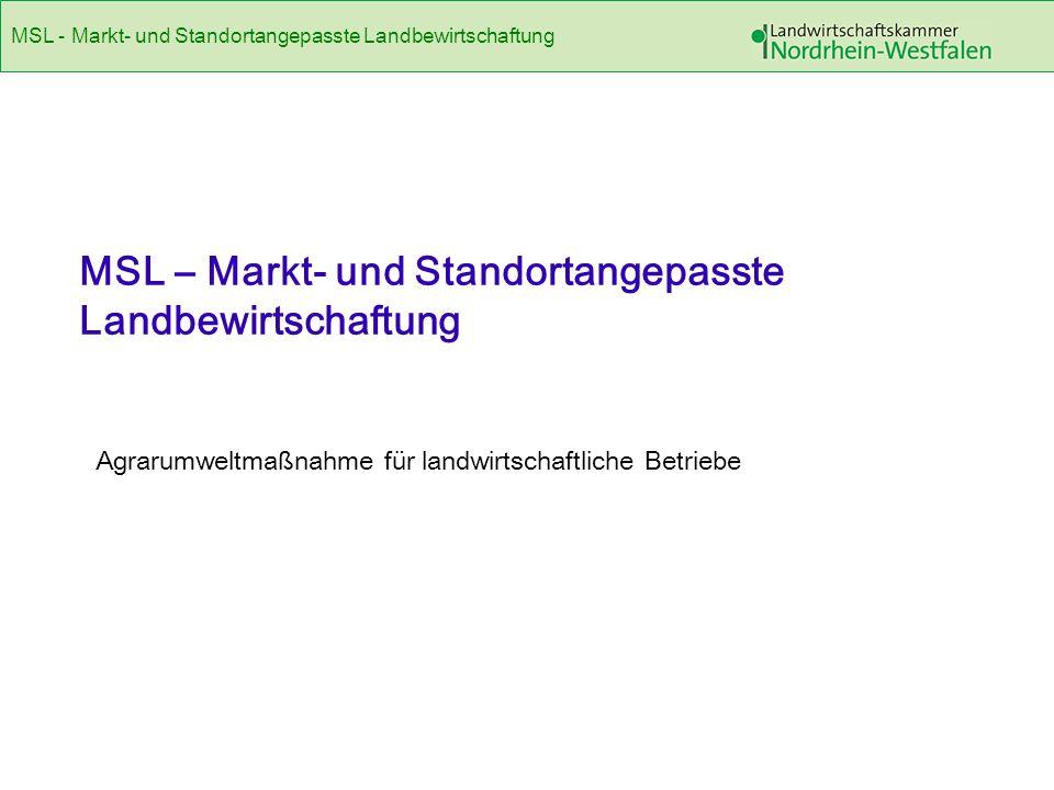 MSL - Markt- und Standortangepasste Landbewirtschaftung 2LILP 2010 Abschnitt III/1 Agrarförderung Die gemeinsame europäische Agrarpolitik (GAP)