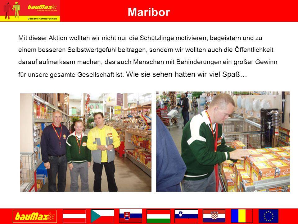 Maribor Mit dieser Aktion wollten wir nicht nur die Schützlinge motivieren, begeistern und zu einem besseren Selbstwertgefühl beitragen, sondern wir wollten auch die Öffentlichkeit darauf aufmerksam machen, das auch Menschen mit Behinderungen ein großer Gewinn für unsere gesamte Gesellschaft ist.