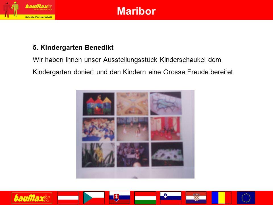 5. Kindergarten Benedikt Wir haben ihnen unser Ausstellungsstück Kinderschaukel dem Kindergarten doniert und den Kindern eine Grosse Freude bereitet.