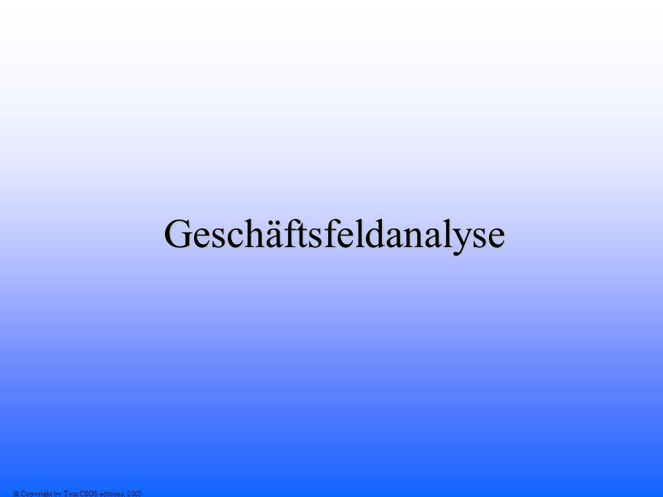 @ Copyright by Tom CSOS editions, 2005 Geschäftsfeldanalyse