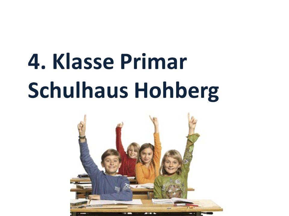 4. Klasse Primar Schulhaus Hohberg