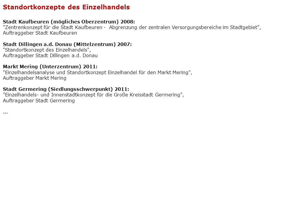 Stadt Kaufbeuren (mögliches Oberzentrum) 2008: