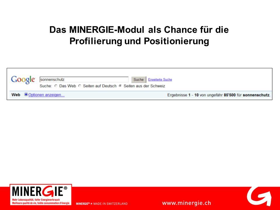 Das MINERGIE-Modul als Chance für die Profilierung und Positionierung