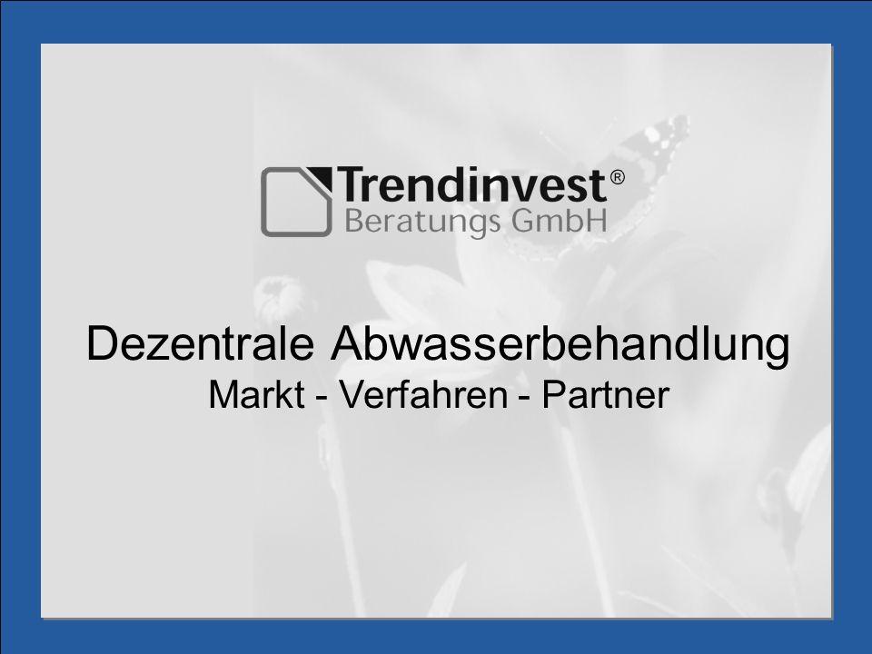 Dezentrale Abwasserbehandlung Markt - Verfahren - Partner