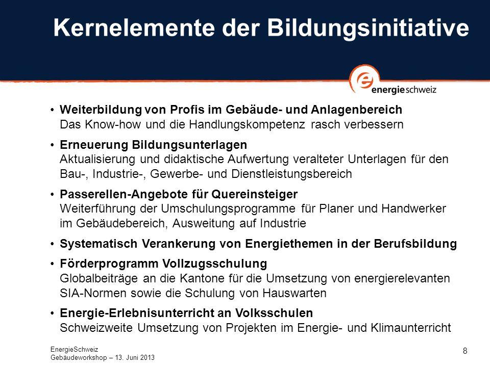 9 Handlungsfelder im Überblick Ab 2014 werden für Bildungsprojekte jährlich rund 7 Millionen Franken bereitgestellt.
