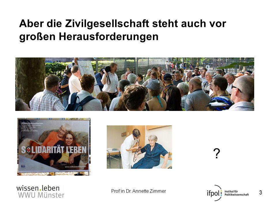 Profin Dr. Annette Zimmer Aber die Zivilgesellschaft steht auch vor großen Herausforderungen 3 ? ?