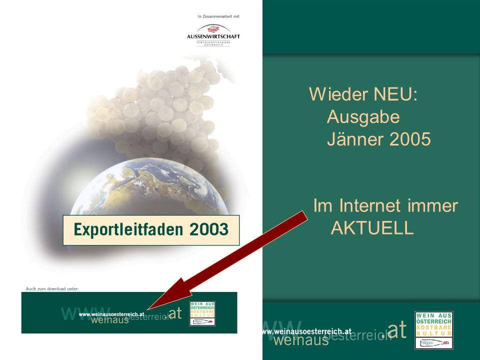 Wieder NEU: Ausgabe Jänner 2005 Im Internet immer AKTUELL
