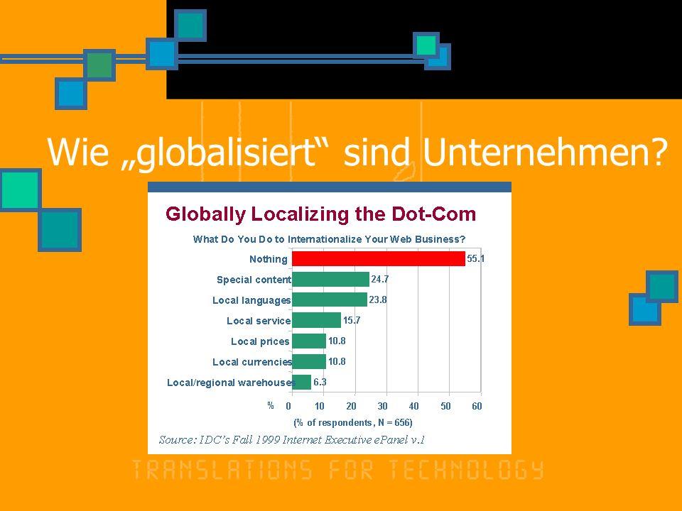 Wie globalisiert sind Unternehmen