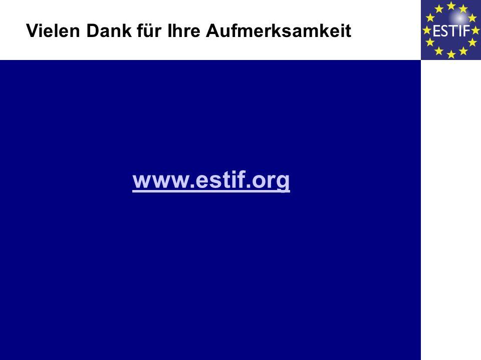 www.estif.org Vielen Dank für Ihre Aufmerksamkeit