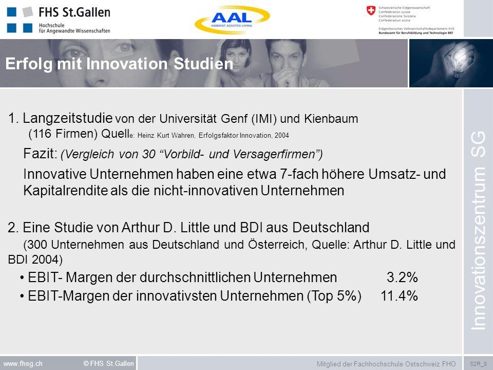 Mitglied der Fachhochschule Ostschweiz FHO S2R_9 www.fhsg.ch © FHS St.Gallen 1. Langzeitstudie von der Universität Genf (IMI) und Kienbaum (116 Firmen