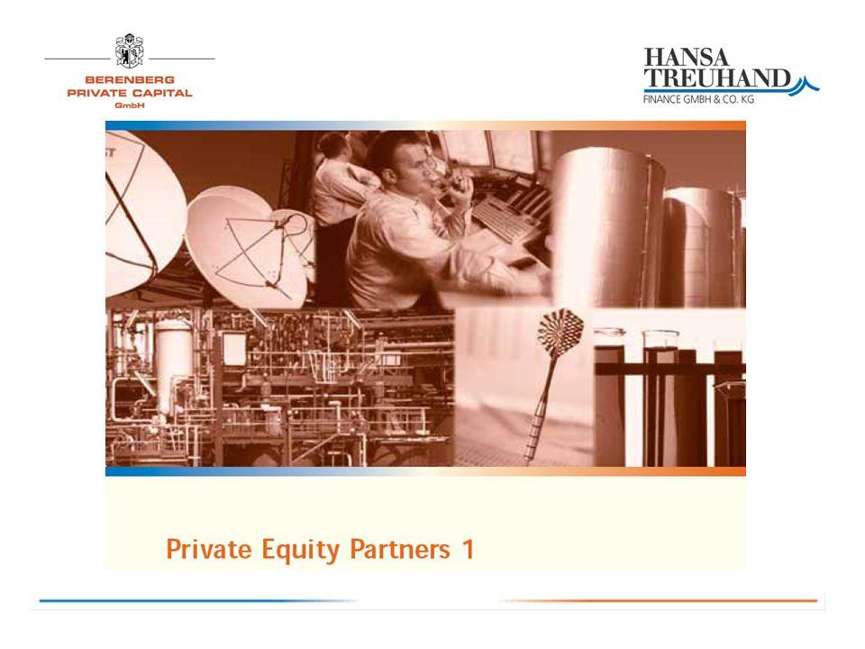 Merkmale des Private Equity Partners 1 - Kosten/Anlagekonzept KriteriumAm MarktPRIVATE EQUITY PARTNERS 1 Bemerkung Investitionsquote88% - 94%zunächst 94 %, steigend auf 100% Anlagekonzept: durch Reinvestition der Rückflüsse Investitionsquote von 100% angestrebt