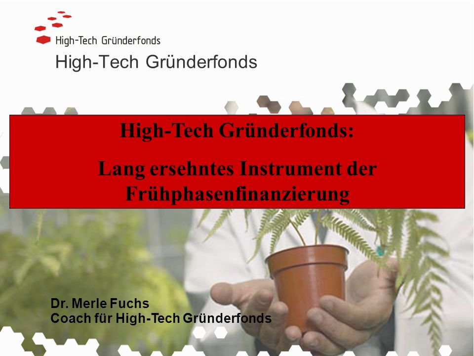 High-Tech Gründerfonds Dr.