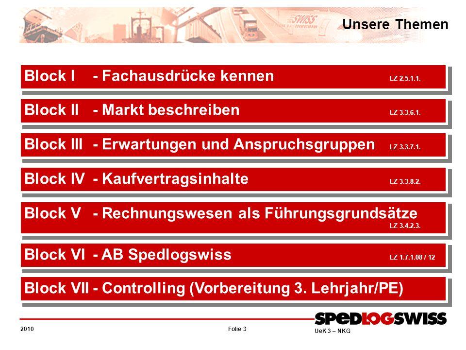 Folie 14 2010 UeK 3 – NKG Transportmarkt Schweiz Marktteilnehmer National – die grossen der Transportszene Markt beschreiben