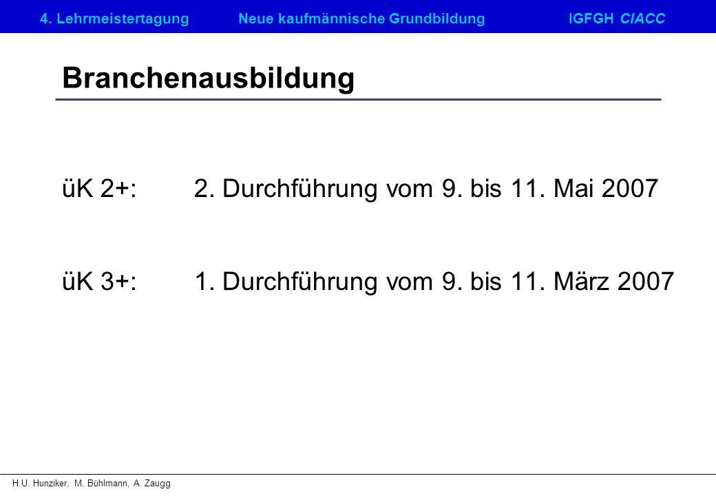 4.LehrmeistertagungNeue kaufmännische GrundbildungIGFGH CIACC H.U.
