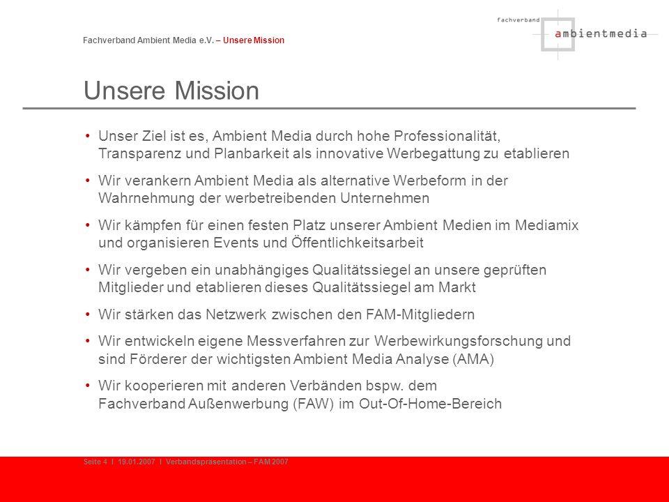 Das FAM Qualitätssiegel Fachverband Ambient Media e.V.