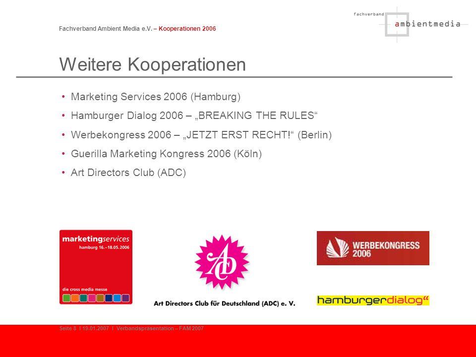 Struktur der Mitglieder Fachverband Ambient Media e.V.