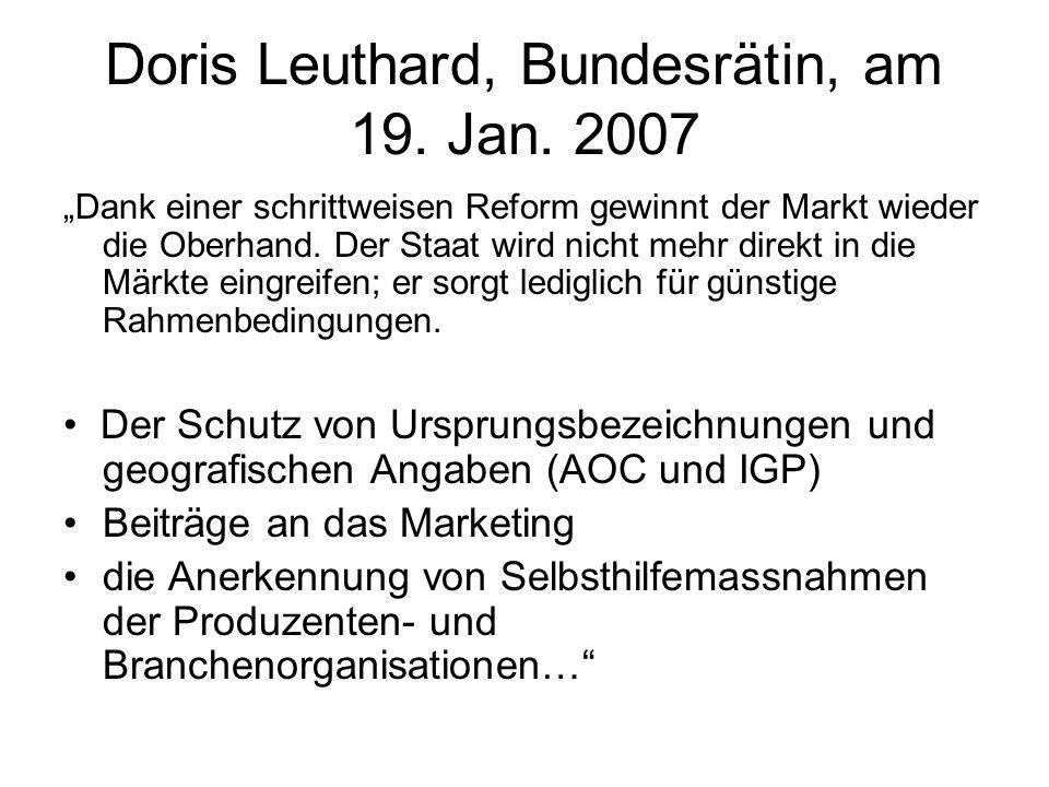 Doris Leuthard, Bundesrätin, am 19. Jan.