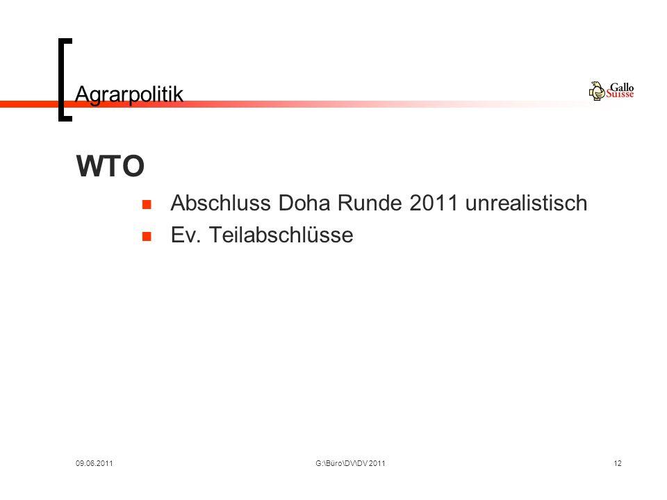 09.06.2011G:\Büro\DV\DV 201112 Agrarpolitik WTO Abschluss Doha Runde 2011 unrealistisch Ev.