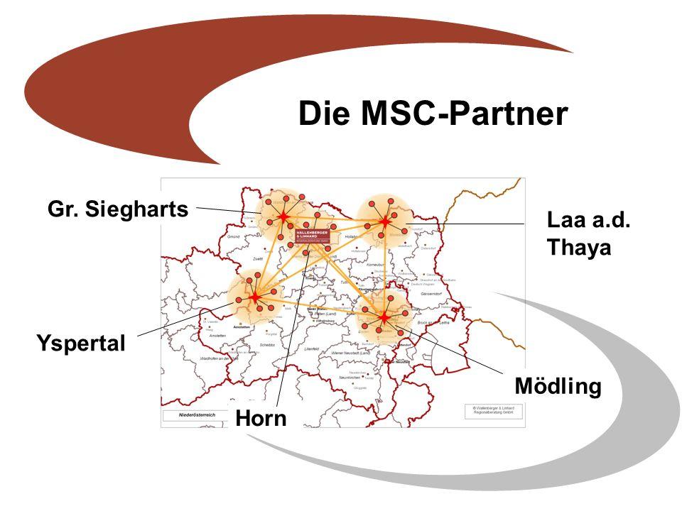 Die MSC-Partner Yspertal Mödling Laa a.d. Thaya Gr. Siegharts Horn