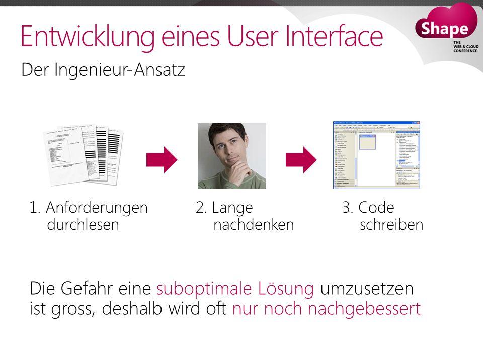 Entwicklung eines User Interface Der Ingenieur-Ansatz 1.