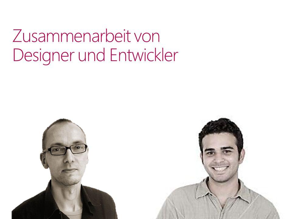 Zusammenarbeit von Designer und Entwickler