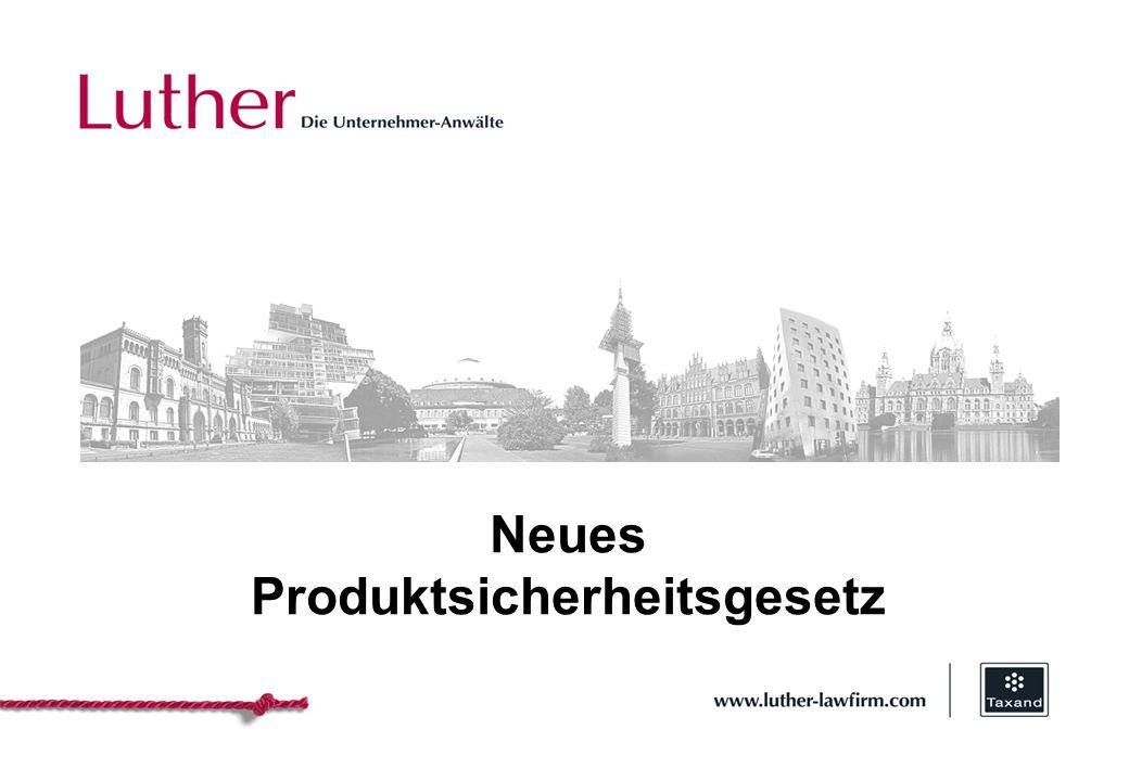 Hannover Neues Produktsicherheitsgesetz