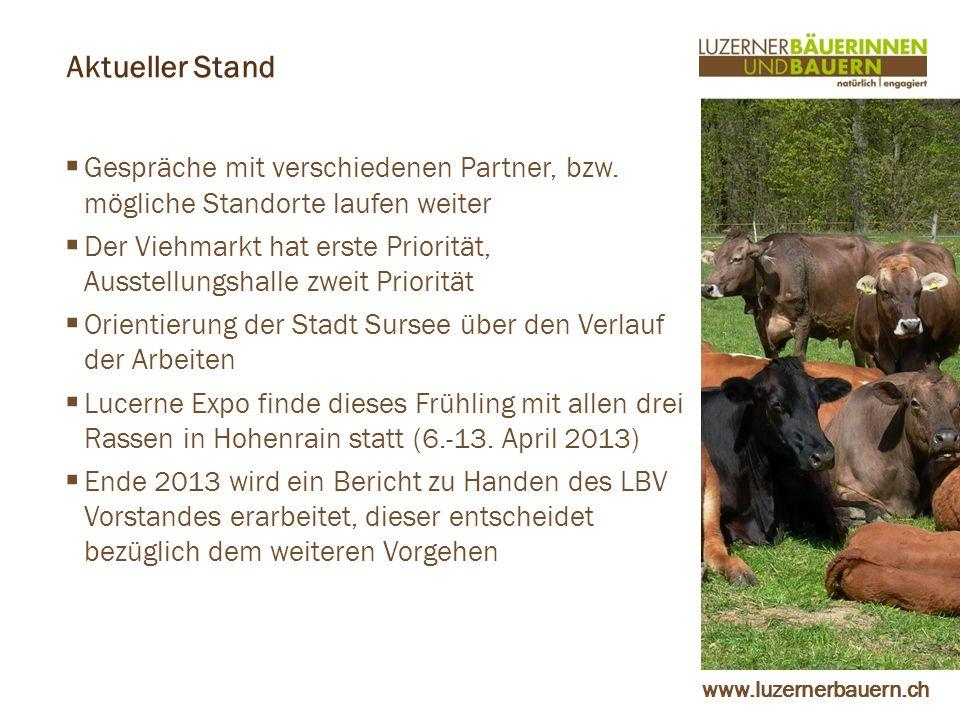 www.luzernerbauern.ch Aktueller Stand Gespräche mit verschiedenen Partner, bzw.