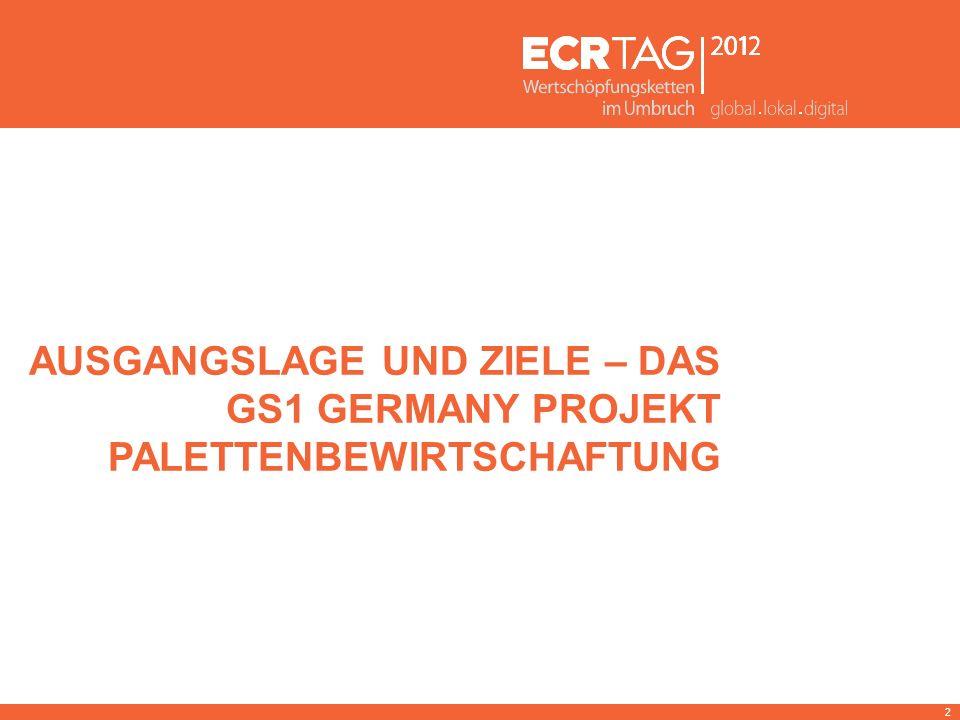 AUSGANGSLAGE UND ZIELE – DAS GS1 GERMANY PROJEKT PALETTENBEWIRTSCHAFTUNG 2