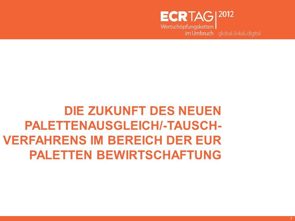 DIE ZUKUNFT DES NEUEN PALETTENAUSGLEICH/-TAUSCH- VERFAHRENS IM BEREICH DER EUR PALETTEN BEWIRTSCHAFTUNG 7