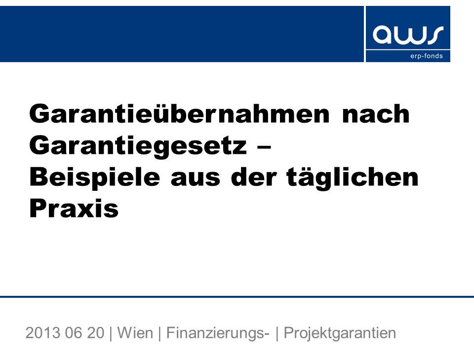 Fallstudie 3 Finanzierung eines Buy-Out-Projektes aws-Garantie: für Senior Loan EUR 5 Mio., Garantiequote 50% (maximal wären 80% möglich gewesen) Laufzeit 7 Jahre, davon 1 Jahr tilgungsfrei Covenants: Besicherung am Target Ausschüttungsbeschränkungen (Ebene NewCo) Subordinierungsverpflichtungen aws-Zustimmungserfordernis bei Change of Control Einschuldungsverbot (ab bestimmter Größenordnung) Negative Pledge Vereinbarung 22