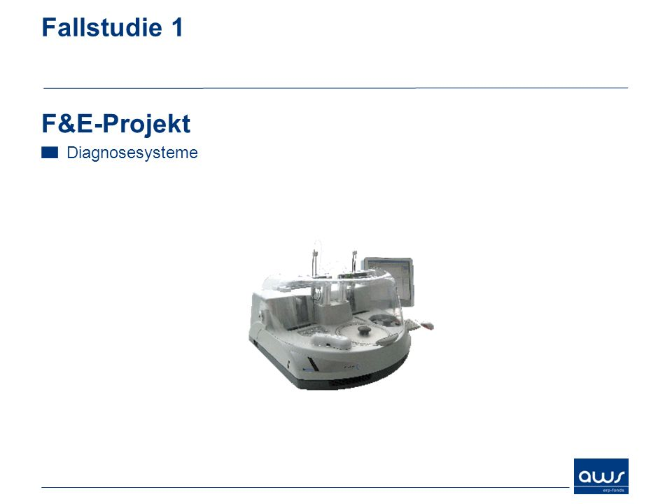 Fallstudie 1 F&E-Projekt Diagnosesysteme