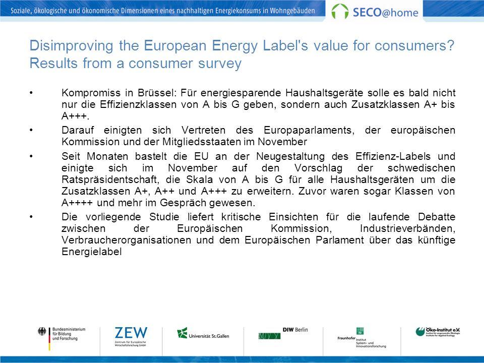 Kompromiss in Brüssel: Für energiesparende Haushaltsgeräte solle es bald nicht nur die Effizienzklassen von A bis G geben, sondern auch Zusatzklassen A+ bis A+++.