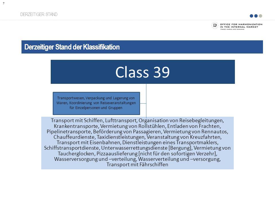 Vorteile einer taxonomisierten Klassifikation Transparenz VORTEILE Entschlüsselung der Klassifikation 38