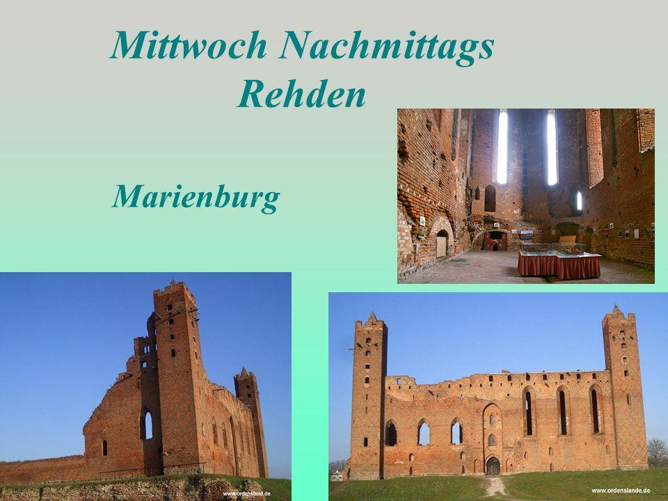 Mittwoch Nachmittags Rehden Marienburg